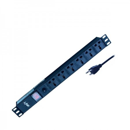 PDU 6 Universal Outlet (Lighting SW+Protection LED) 15A